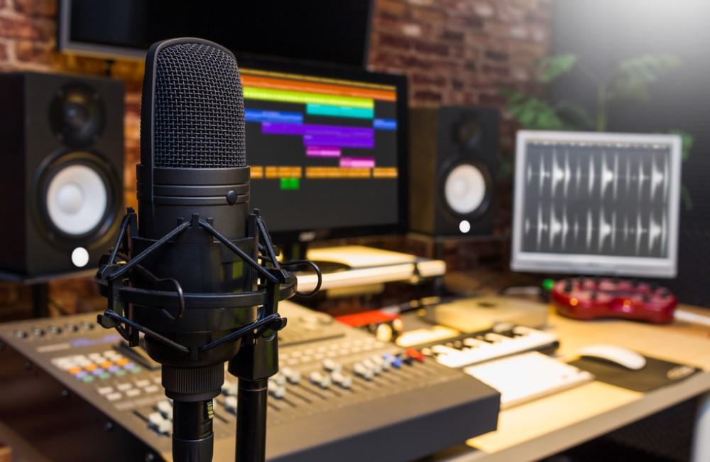 produção e edição de áudio